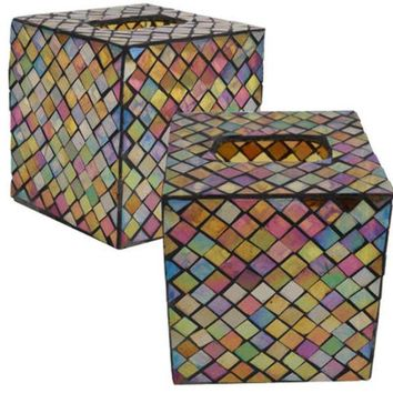 Mosaic Tissue Box - CASE OF 4