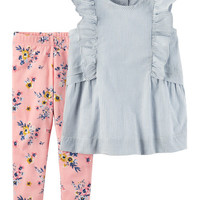 2-Piece Ruffle Tunic & Legging Set