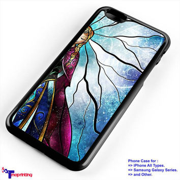 anna disney frozen stained glass couple - Personalized iPhone 7 Case, iPhone 6/6S Plus, 5 5S SE, 7S Plus, Samsung Galaxy S5 S6 S7 S8 Case, and Other