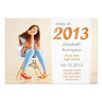 Funky Cool Class Of 2013 Graduation Announcement from Zazzle.com