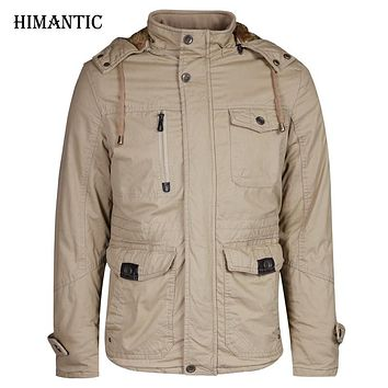 Winter Coat Men Casual Thick Velvet Warm Coats Men's Outwear Hooded Parka Coats Windbreak Snow Military Jackets