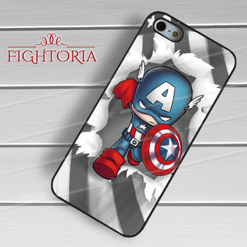 Captain America Chibi - zzZzz for  iPhone 4/4S/5/5S/5C/6/6+s,Samsung S3/S4/S5/S6 Regular/S6 Edge,Samsung Note 3/4