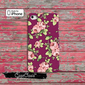 Vintage Rose Peonies Floral Flower Pattern Tumblr Cute iPhone 4/4s Case iPhone 5 and 5s and 5c Case And Wallet Style and iPhone 6 and 6 Plus