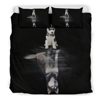 Husky Dream Bedding Set| Dog Bedding Twin/ Queen/ King Size
