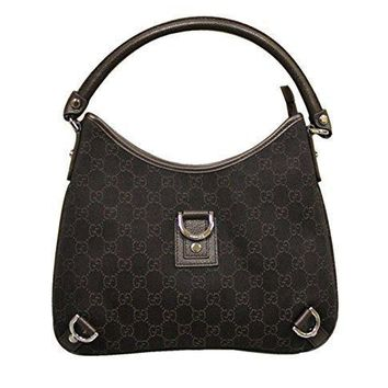 Gucci Brown Denim Abbey Hobo Bag Leather Handbag 268637