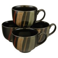 Sango Avanti Jumbo Mug Set of 4 - Black