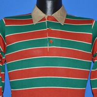 80s Campus Pro Striped Boy's Rugby Polo t-shirt Size 16