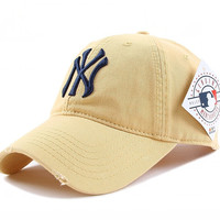NY Women Men Embroidery Sport Sunshade Cap Baseball Cap Hat