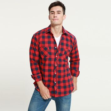 Casual Fit - Men's Shirt - Plaid Flannel