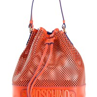 Moschino Perforated Bucket Bag