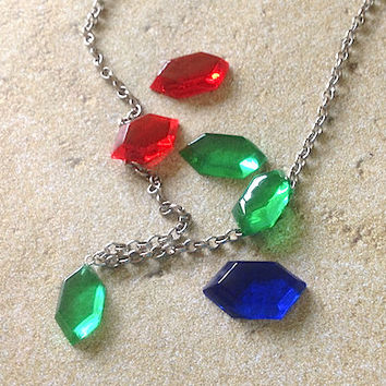 Legend of Zelda Rupee Necklace