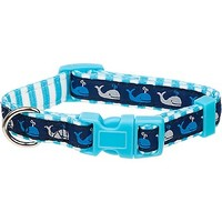 Petco Blue Whale Nylon Adjustable Dog Collar