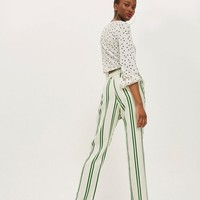 Stripe Tapered Trousers | Topshop