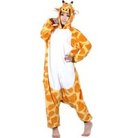 Autek Animal Unisex Onesuit Fancy Dress Costume Hoodies Pajamas Sleep Wear Giraffe Kigurumi (Medium)