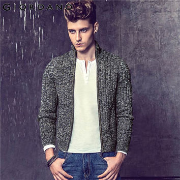 Men Sweaters Famous Zipper Knitted Cardigan for Men Winter Mens Turtleneck Cardigan Man Knitwear