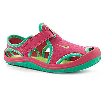 Nike Girls' Sunray Protect Sandals - Volt/Pink Pow/Blue Lagoon /White
