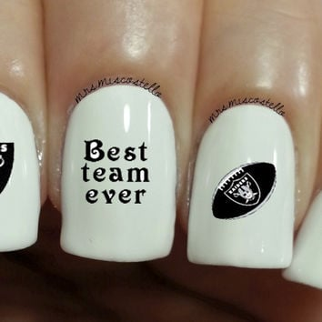 raiders nail decals
