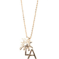 With Love From CA Palm Tree LA Necklace at PacSun.com