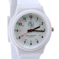 Prestige Medical Nurse White Scrub Watch