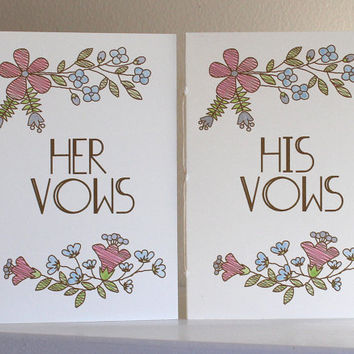 Wedding Vow Books  - His And Her Vow Books