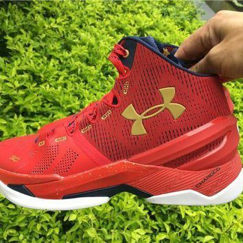 PEAPNW6 Under Armour Curry 2 Floor General 1259007-601 Basketball shoes-1