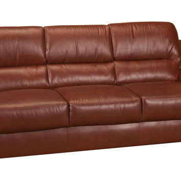 Westchester Leather Sleeper Sofa Queen Bed with Pocket-Coils