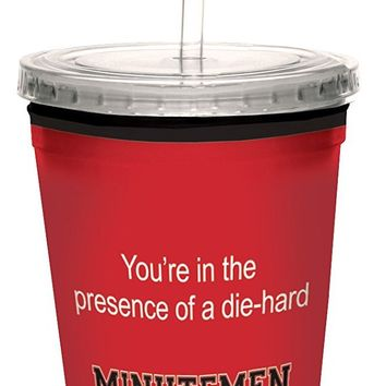 Tree-Free Greetings cc34483 Minutemen College Football Fan Artful Traveler Double-Walled Cool Cup with Reusable Straw, 16-Ounce