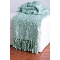 Rizzy Home Acrylic Woven Throw
