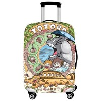 DCCKU62 Elastic Luggage Covers Travel Suitcase Dustproof Washable Anti-Scratch Protector 18/20/21/22/24/26/28/30/32 Totoro Design