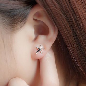 925 Silver Starfish Stud Earrings +Gift Box