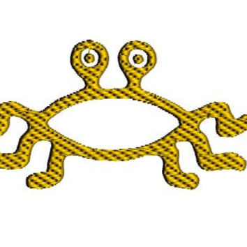 Flying Spaghetti Monster Embroidery Design. 4x4 hoop embroidery. FSM design. Flying Spaghetti monster design.  Pastafarian design.