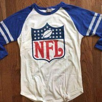 Mens Junk Food Vintage Inspired NFL Logo Raglan Shirt