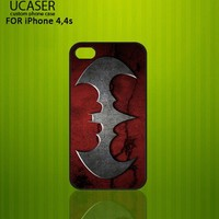 Batman logo pattern - Photo on Hard Cover for iPhone 4,4S