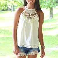 All Tied Up Crochet Halter {Natural}