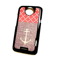 Anchor Accessory Case HTC One X Coral and Canvas Anchor Hard Case