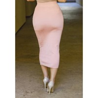 CORAL MIDI-Length Bodycon Skirt - Jaide - JLUX Label