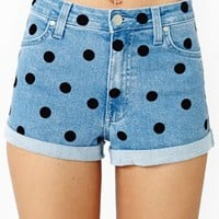 Dotty Denim Shorts