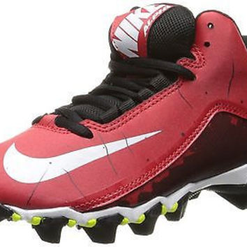 Boy's Nike Alpha Shark 2 3/4 Football Cleat University Red/Black/White Size 6...