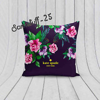 Hot Rare Floral Kate Spade Custom Design For Pillow Case 18x18 Limited Edition