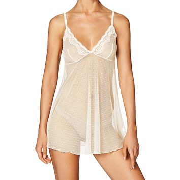 Dot Mesh Babydoll (COLORS)