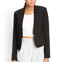 FOREVER 21 Collarless Notched Blazer