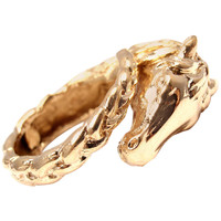 HERMES Horse Gold Band Ring