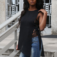 Thinking Out Loud Sheer Top