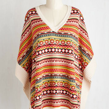 Vintage Inspired Mid-length Pumpkin Patch Panache Poncho