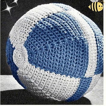Crochet TOY Ball Pattern Vintage 70s Crochet Baby Ball Crochet Amigurumi Ball Crochet Stuffed Toy Pattern