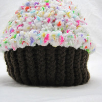 Rainbow Sprinkles Cupcake Hat~Baby/Toddler~Super Special Cupcake
