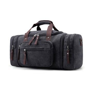 Sports gym bag Men Travel  Large Capacity Male Carry on Hand Luggage Travel Canvas Duffle Bags Travel Tote Large Weekend Gym Bags Men KO_5_1