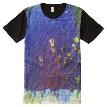 many duck swimming in a pond All-Over-Print T-Shirt