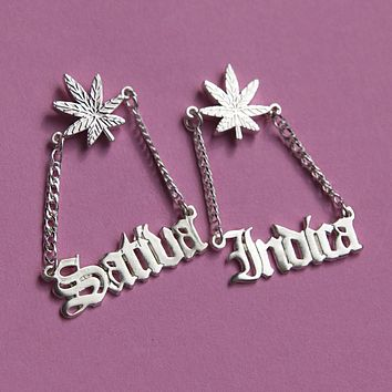 Sativa/Indica Earrings