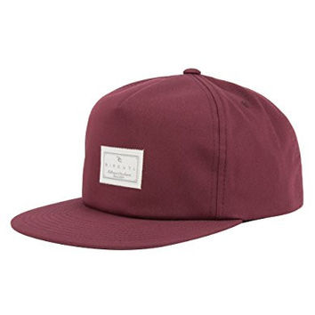 Rip Curl Mens Quality Surf Snapback Adjustable Hat One Size Tawny Port